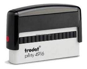 Автоматичен печат екстраширок Trodat 4916 с размер на отпечатъка 70 х 10 мм