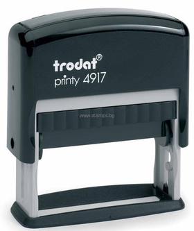 Автоматичен правоъгълен печат Trodat 4917 с размер на отпечатък 50 х 10 мм